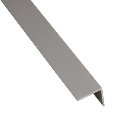 Kątownik PVC 2.6 m x 19.5 x 19.5 mm matowy szary STANDERS
