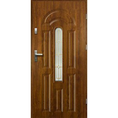 Drzwi zewnętrzne stalowe WENUS Złoty dąb 90 Prawe