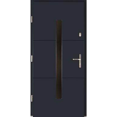 Drzwi zewnętrzne drewniane Proxima antracyt 90 lewe Lupol