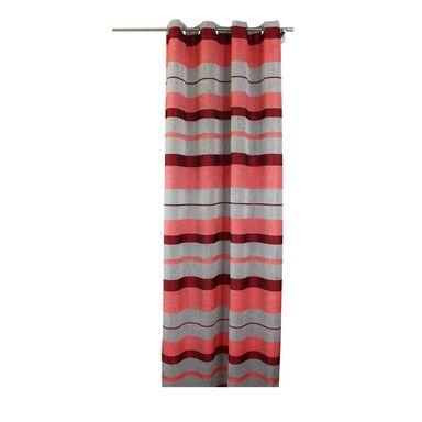 Zasłona gotowa BARCELONA  kolor Czerwony 140 x 245 cm Kółka 110 g/m²