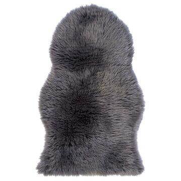 Skóra owcza Faux szara 60 x 100 cm Inspire