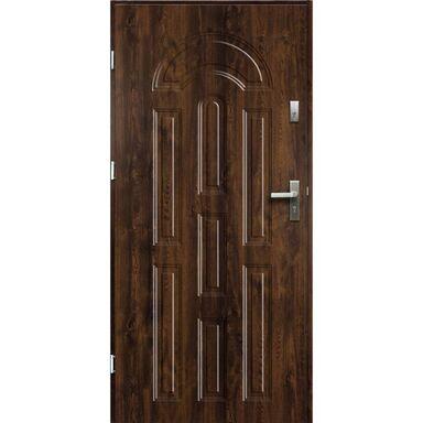 Drzwi zewnętrzne stalowe AURORA Orzech 90 Lewe OK DOORS TRENDLINE
