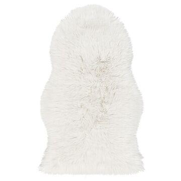 Skóra owcza FAUX biała 60 x 100 cm INSPIRE