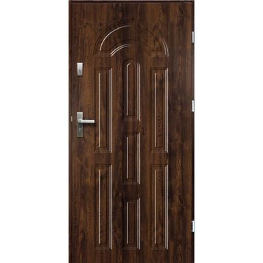 Drzwi wejściowe AURORA Orzech 90 Prawe OK DOORS TRENDLINE