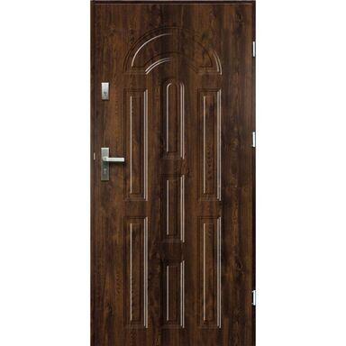 Drzwi zewnętrzne stalowe  AURORA Orzech 90 Prawe OK DOORS TRENDLINE