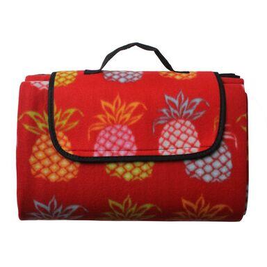 Koc piknikowy MAYO czerwony 135 x 175 cm nieprzemakalny