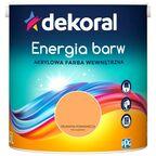 Farba wewnętrzna ENERGIA BARW 2.5 l Delikatna Pomarańcza DEKORAL