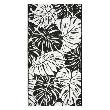 Dywan zewnętrzny Jawa biało-czarny 160 x 230 cm