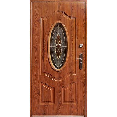 Drzwi zewnętrzne stalowe TENERYFA Złoty dąb 90 Lewe S-DOOR