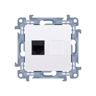 Gniazdo komputerowe RJ45 kategoria 5e SIMON 10  biały  KONTAKT SIMON