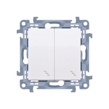 Włącznik podwójny PODWÓJNY SIMON 10  Biały  SIMON