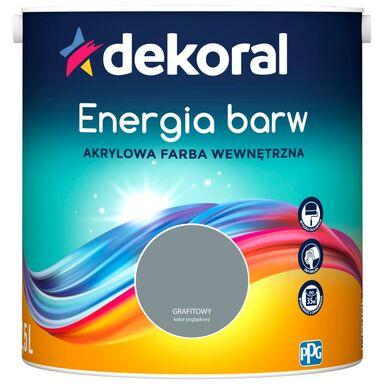 Farba wewnętrzna ENERGIA BARW 2.5 l Grafitowy DEKORAL