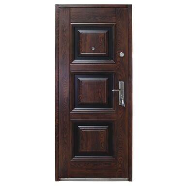 Drzwi wejściowe QUADRAT Mahoń 80 Lewe