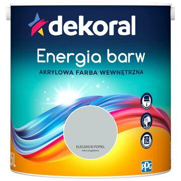 Farba wewnętrzna ENERGIA BARW 2.5 l Elegancki Popiel DEKORAL