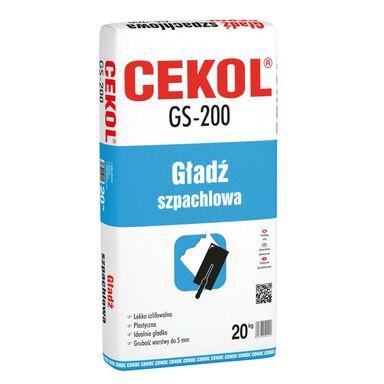 Gładź szpachlowa GS-200 20 kg CEKOL