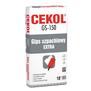 Gips szpachlowy GS-150 18 kg CEKOL