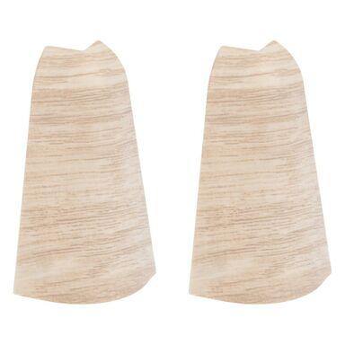 Narożnik zewnętrzny do listwy przypodłogowej ERGO 76 Dąb biały 2 szt.