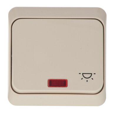 Włącznik schodowy z podświetleniem PRIMA  beżowy  SCHNEIDER ELECTRIC