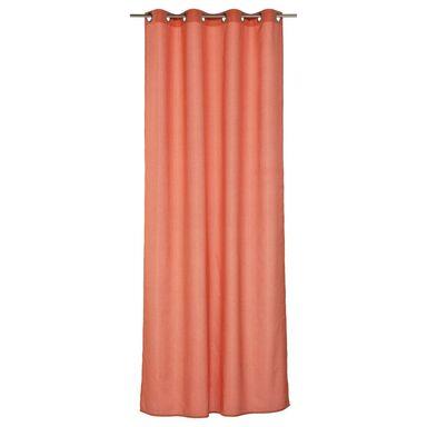 Zasłona BLUEBERRY  kolor Pomarańczowy 140 x 32 cm Pierścienie 125 g/m²  INSPIRE