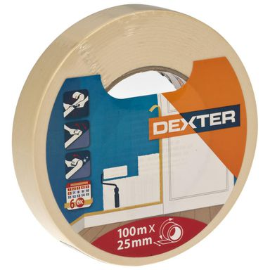 Taśma malarska 25 mm x 100 m DEXTER