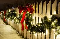 Świąteczne dekoracje posesji i ogrodu