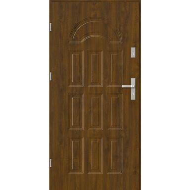 Drzwi zewnętrzne stalowe BOLONIA Złoty dąb 90 Lewe EVOLUTION