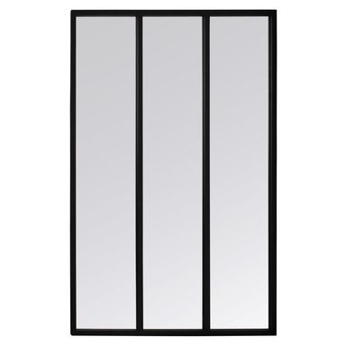 Lustro okno ATELIER czarne 81 x 111 cm INSPIRE