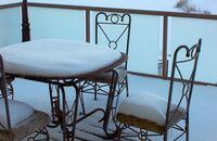 Taras i balkon zimą