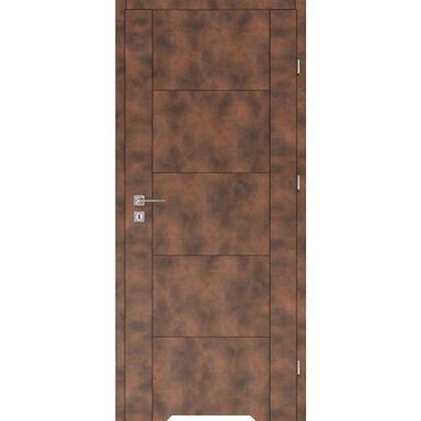 Skrzydło drzwiowe z podcięciem wentylacyjnym DUAL Miedź 70 Prawe VOSTER