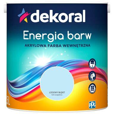 Farba wewnętrzna ENERGIA BARW 2.5 l Lodowy Błękit DEKORAL