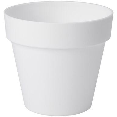 Doniczka plastikowa 25 cm biała IBIZA