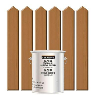 Lazura do drewna DEKORACJA I OCHRONA DREWNA 2.5 l  Drewno egzotyczne LUXENS