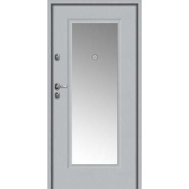 Drzwi wejściowe BRAGA Z LUSTREM Biała 80 Lewe LOXA
