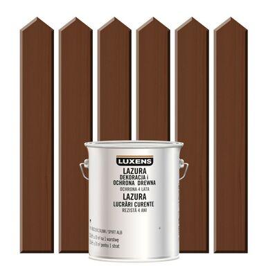 Lazura do drewna DEKORACJA I OCHRONA DREWNA 2,5 lPalisander LUXENS