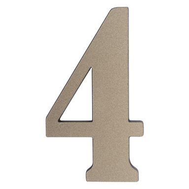 Cyfra 4 wys. 5 cm PVC srebrna