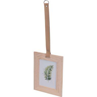 Ramka na zdjęcie na pasku 20 x 20 cm drewniana