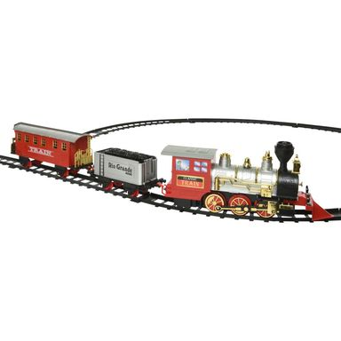 Pociąg z lokomotywą 60 x 44 cm na baterie tory 3,45 m