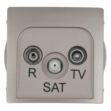 Gniazdo RTV SAT KOŃCOWE BASIC  Srebrny  KONTAKT SIMON