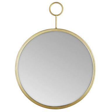 Lustro okrągłe RIMO złote śr. 30 cm z uchwytem do zawieszenia