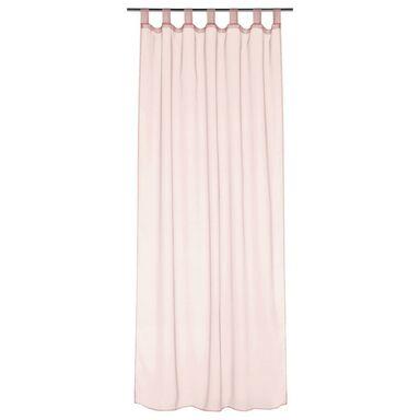 Firana na szelkach POLY 140 x 245 cm różowa INSPIRE
