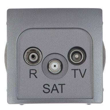 Gniazdo RTV-SAT końcowe BASIC  Srebrny  KONTAKT SIMON