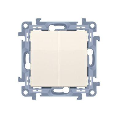 Włącznik podwójny SIMON 10  Kremowy  SIMON