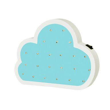 Lampka dziecięca CHMURKA LED drewniana na baterie POLUX