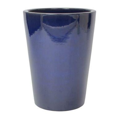 Donica ceramiczna 34 cm niebieska
