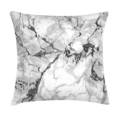 Poduszka imitacja marmuru szara 45 x 45 cm