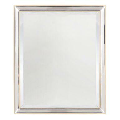Lustro Byrda z lustrzaną ramą złote 51 x 61 cm