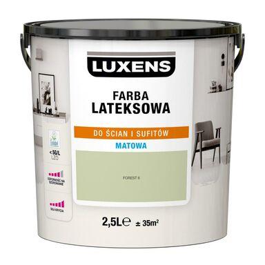 Farba wewnętrzna LATEKSOWA 2.5 l Forest 6 LUXENS