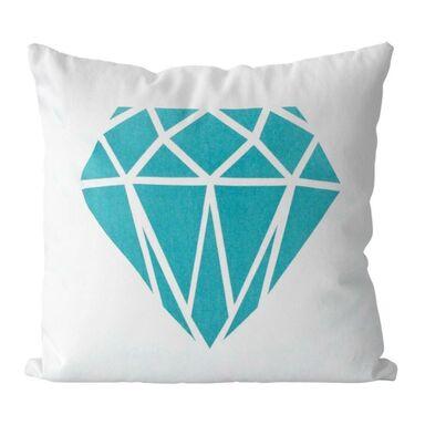Poduszka Big Diamond niebieska 45 x 45 cm