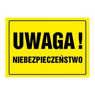Znak informacyjny UWAGA NIEBEZPIECZEŃSTWO wys. 24 cm