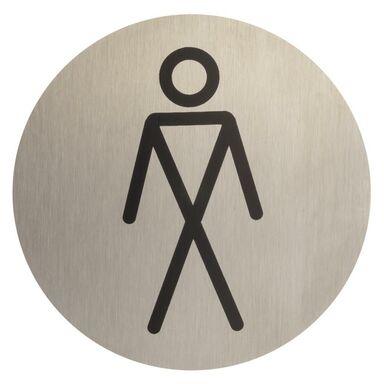 Znak informacyjny WC MĘSKIE STAL NIERDZEWNA